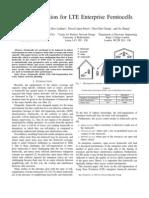Self-Organization for LTE Enterprise Femtocells