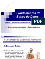 1.1 Fundamentos de Bases de Datos