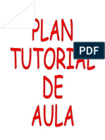 Plan Tutorial de Aula