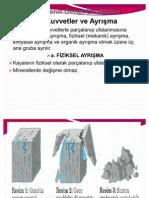 ayrışma erozyon heyelan akarsular aşınma ve birikme