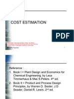 Cost Estimation April 2011