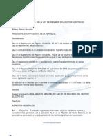 to General de La Ley de Regimen Del Sector Electrico