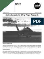 NASA Facts Active Aeroelastic Wing Flight Research