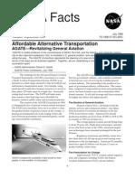 NASA Facts Affordable Alternative Transportation AGATE Revitalizing General Aviation