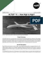Nasa Facts Altus II How High is High 1998