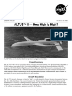 Nasa Facts Altus II How High is High 2003