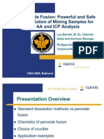 Peroxide Fusion Powerful and Safe Dissolution of Mining Samples for Aa and Icp Analysis[1]