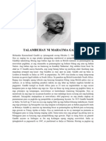 Talambuhay Ni Mahatma Gandhi