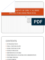 Development of Drc Calibre Decks for Dsm Process
