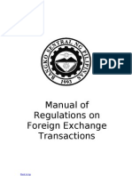 Manual of Regulations on Foreign Exchange Transactions