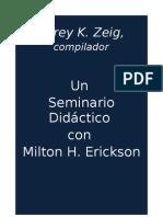 Un Seminario Didactico Con Milton Erickson