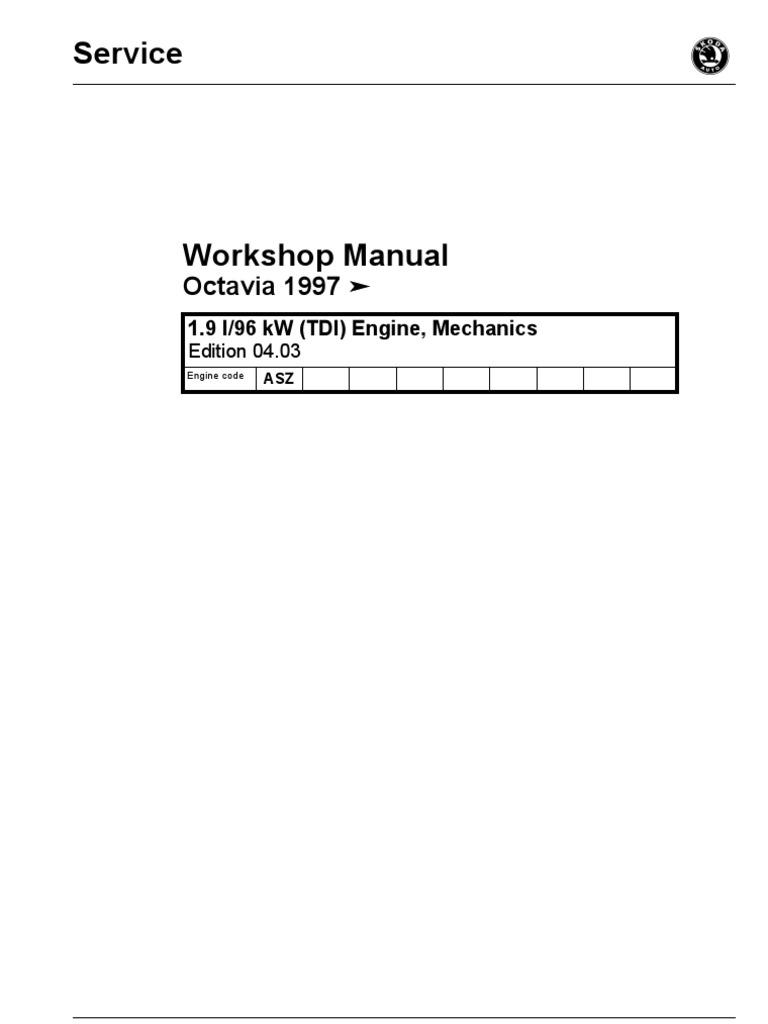 Workshop Manual Octavia Engine Mechanics 1 | Turbocharger | Belt  (Mechanical)
