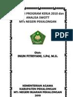 Evaluasi Program Kerja MTs N PKL 2010
