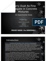 Quarry Dust as Fine Aggregate in Concrete Mixtures