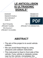 Vehicle Anti Collision Using Ultrasonic Signals