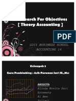 [ Theory Accounting ] - The Search for Objectives