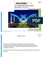 Training Module for Testing