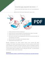 Mau Tahu Cara Menyikat Gigi Yang Baik Dan Benar