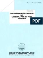 Development of Aox Standards for Large Scale Pulp and Paper Industries