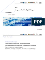 Technologies and Management Tools for Digital Villages