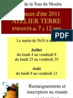 Annonce Atelier Terre Tour Du Moulin