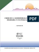 Luis Razeto - Crisis de la Modernidad, Economía Solidaria y Culturas Andinas