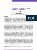 Supportive Systems for Continuous and Online Professional Development