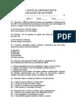 AVALIAÇÃO DE HISTÓRIA - 1º ANO / 2º BIMESTRE