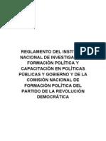 Reglamento del Itto. Nal. de Investigacion y Formacion Politica