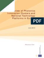 EU Report on Photonics Innovation Clusters