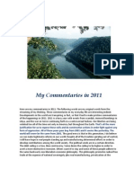 Commentaries in 2011