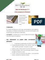 Guia de Orientação nº 2 Como pesquisar no Dicionário