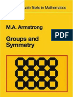 Groups & Symmetry ~ M.a. Armstrong