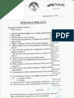Ophthalmology Exams 2003-2010