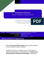 Breitband-Internet - Nutzen für Bürger und Unternehmen