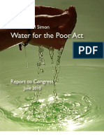 U.S. Water for the Poor Act Report 2010