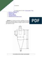 Diseño ciclon separador de partículas