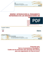 INTRODUCCIÓN AL PENSAMIENTO ESTRATÉGICO EN LAS ORGANIZACIONES SIN FINES DE LUCRO