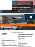 Programa I Foro Regional Mar Del Plata 2011