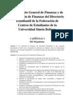 Reglamento General de Finanzas y de la Comisión de Finanzas del DE-FCEUSB (2009)