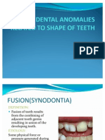 Dental Anomalies Related to Shape of Teeth