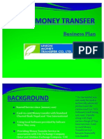 Union Money Transfer Business Plan