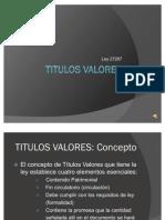 TITULOS VALORES básico