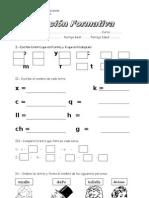 Evaluacion Formativa Lenguaje El Abecedario