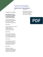 El Himno de Medjugorje Letra en Espanol
