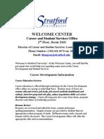 Welcome Center -Orientation Information Q2