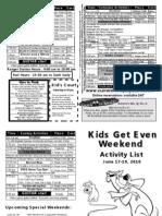 Kids Get Even Fathers Day Weekend 2011 Activity List Yogi Bear's Jellystone Park, Van Buren MO