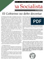 El Gobierno no debe decretar - Tribuna Socialista