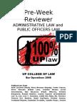 Admin and Pub Off Law Pre-Week