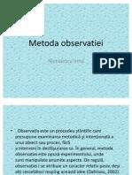 Metoda observatiei